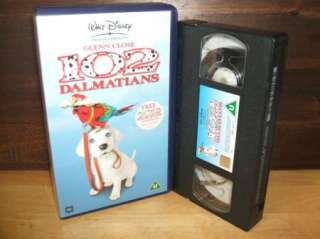 Walt Disney   102 Dalmations   VHS PAL Video