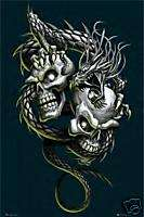 SKULLS AND DRAGON CROSS STITCH KIT BN (GOTH03)