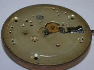International Watch Company Pocket Watch Movement Complete Less Hands