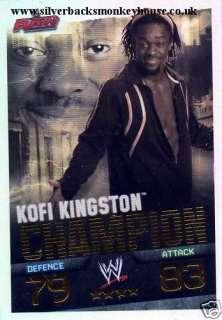 WWE Slam Attax Evolution   KOFI KINGSTON Champion