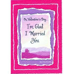 Card Valentines Day Im Glad I Married You: Health & Personal Care
