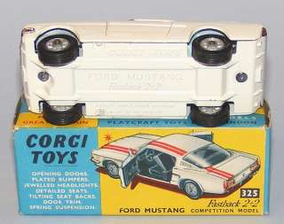Corgi Toys #325 Ford Mustang Fastback NEAR MINT BOXED |