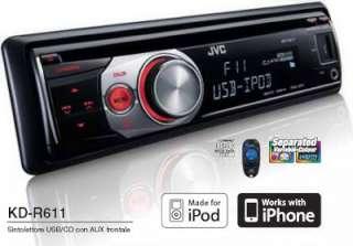 JVC KD R611 AUTORADIO CD USB AUX IN MP3 WMA STEREO AUTO