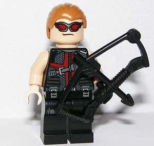 LEGO SUPER HEROES MARVEL AVENGERS HAWKEYE MINI FIGURE FROM 6867 COSMIC