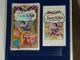 DISNEY SNOW WHITE EXCLUSIVE DELUXE VIDEO BOXED SET