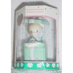 Precious Moments Porcelain Holiday Ornament Boy in Gift Box