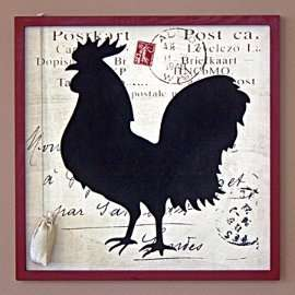 SHABBY COUNTRY CHICKEN CHALKBOARD NOTICEBOARD KITCHEN