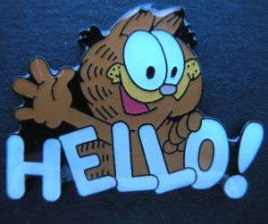 Garfield HELLO Cartoon Pin