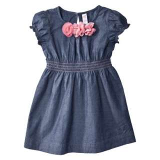 Cherokee® Infant Toddler Girls Short Sleeve Dress   Chambray.Opens in