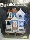 BUCILLA PLASTIC CANVAS KIT VICTORIAN HOUSE KEY HOLDER