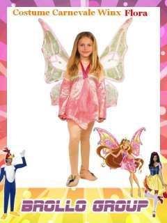 Costume Carnevale Bimba Winx Flora   Abito Bambina tg 4° #12372