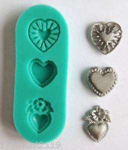 Silicone Mould PMC Jewellery Clay Fimo Findings Silver