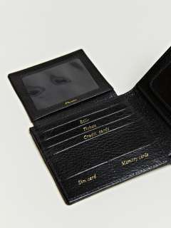 Maison Martin Margiela 11 Mens Textured Leather Flip Wallet  LN CC
