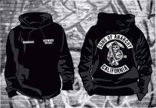 Sons of Anarchy SAMCRO Hoodie in sizes up to 6XL