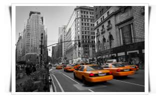 NEW YORK NYC YELLOW TAXI CAB CANVAS ART PRINT POSTER