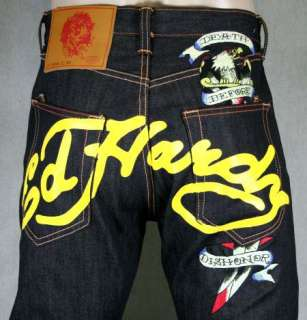 ED HARDY JAPAN or DAGGER death before dishonor Jeans