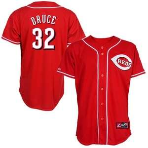 Majestic Cincinnati Reds #32 Jay Bruce Red Replica Baseball Jersey