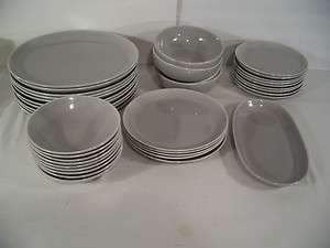 Vtg. Cavitt Shaw W.S.George Ranchero Pattern Grey Place Setting pieces