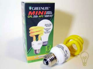 3x CFL Spiral Insect Repellent Light Bulb 60 Watt E26