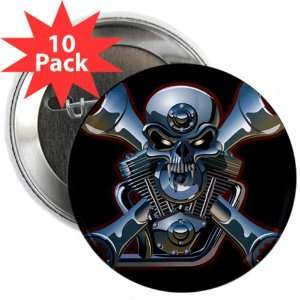 2.25 Button (10 Pack) Motorhead Skull Wrenches: Everything Else