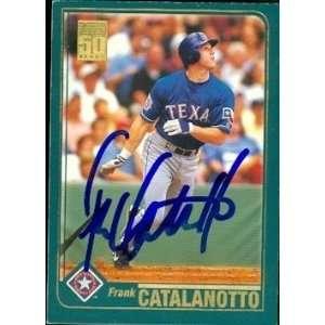 Frank Catalanotto Autographed/Hand Signed MLB Baseball
