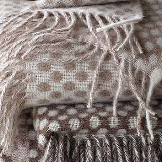 alpaca merino wool throw with fringes by linenme