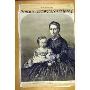 1866 Princess Wales Infant Prince Albert Victor Print Home & Kitchen