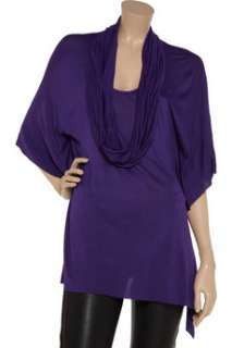 Dipped in this seasons it color, Cut25s cowl neck batwing jersey top