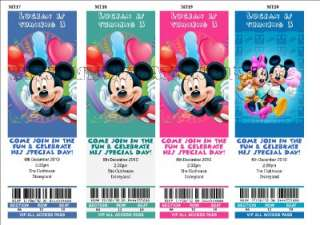 Mickey Mouse Minnie Invitation/Invite 32 Styles