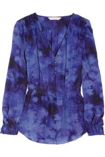 Rebecca Taylor Tie dye silk blouse   60% Off Now at THE OUTNET
