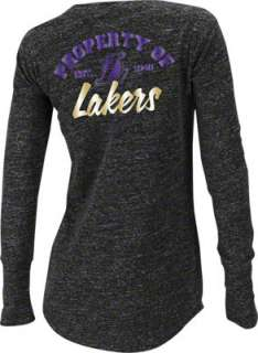 Los Angeles Lakers Womens adidas Originals Black Sweetheart Henley