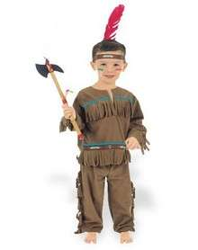 Suit up your little brave in this Indian Boy toddler costume. This