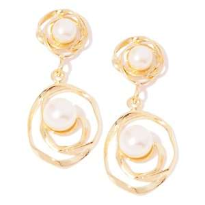 Jewelry Designs Cultured Freshwater Pearl Wire Wrapped Drop Earrings