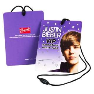 Halloween Costumes Justin Bieber VIP Backstage Passes (4 count)