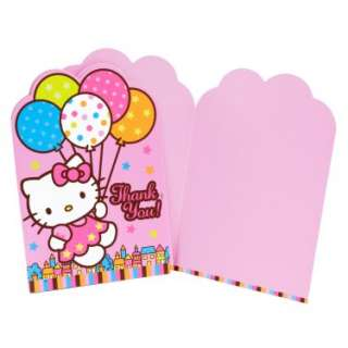 Costumes Hello Kitty Balloon Dreams Thank You Cards (8 count