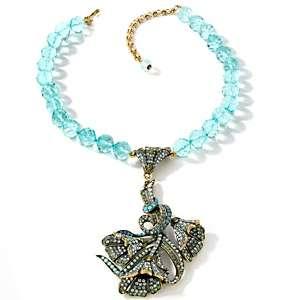 Heidi Daus Heavenly Bloom Crystal Accented Drop Necklace