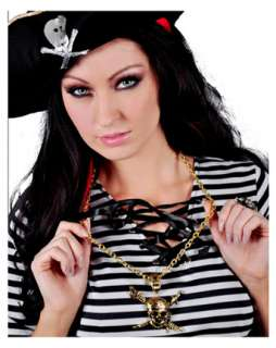 Pirate Skull and Swords Necklace  Wholesale Halloween Jewelry one of
