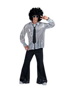 Mens Black Diamond Disco Pants with Sequin Cuff Mens Disco Costumes at