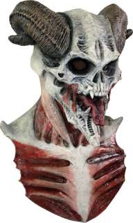 costumes in shopping cart devil skull mask