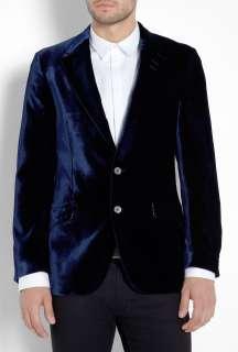 Paul Smith London  Deepest Blue Velvet Westbourne Blazer by Paul