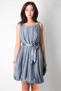 Cornflower Blue Craigi Ribbon Belted Dress By Malene Birger   Blue