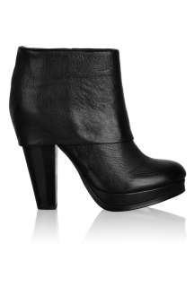 Black Easy Cuffed Leather Ankle Boot by Ash   Black   Buy Boots Online