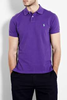 Polo Ralph Lauren  Camelot Purple Custom Fit Polo Shirt by Polo Ralph