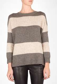 Vince  Striped Boat Neck Sweater by Vince