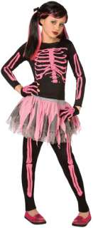 imprinted pink skeleton comes with tutu skirt and matching skeleton