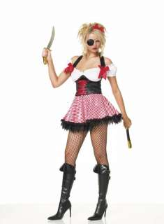 Adult Sexy Peppermint Pirate Costume   Sexy Laced Up Lassie The sexy