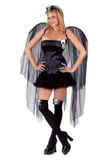 Adult Sexy Skull Fairy Costume   Gothic Halloween Costumes   15FW5089