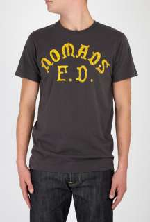 Edwin  Washed Black Nomads Biker Gang T Shirt by Edwin
