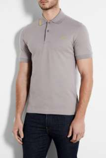 Fred Perry Laurel Wreath  Lunar Grey Broken Tipping Polo Shirt by