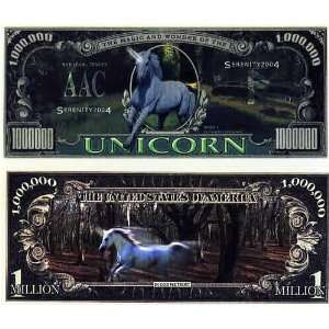 Set of 10 Bills Unicorn Million Dollar Bill Toys & Games